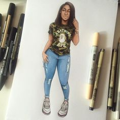 Hypebae #sketch #fashionsketch #fashiondrawing #fashionillustration #drawing #illustration #art #artist #fashionable #nataliamadej