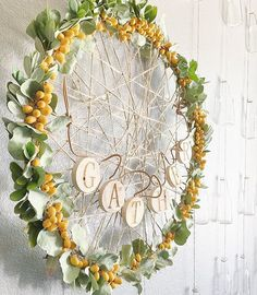 We are loving all the inspiration you are sharing for #DIYitsFallOhMy Keep those homemade banners and wreaths coming! I made this wreath with a hula hoop, twine from @michaelsstores, dried greenery from a bouquet, some palm tree fruit from my front yard and a 'gather' banner from Target #fallwreath #fallintofall #decorate4theseason #thefallfarmhouse #bhgcelebrate #madewithmichaels #wednesdaywooddecor #inspireushomedecor #wednesdaywalldecor