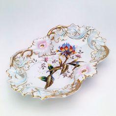 CT Germany, Carl Tielsch, Altwasser/Silesia, Pierced Detail, Exotic Flower Motif