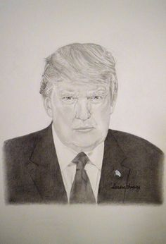 Watch me draw Donald Trump, President of the United States of America, Graphite Pencil Sketching. Donald J. Trump is the and current president of the Un. Current President, North Korea, Pictures To Draw, Pencil Drawings, Obama, Donald Trump, Presidents, Sketches, United States