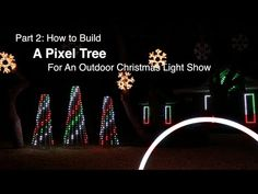 Part 1: How to build a Leaping Arch for an outdoor Christmas light show - YouTube