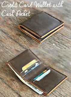 Credit Card Wallet with Cash Pocket --- JooJoobs