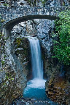 Christine Falls, Mount Rainier National Park, Washington, USA.