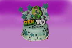 Ben 10 kaken. Kjente figurer fra tv er alltid poppis blant barna. Denne kan lages både som marsipanbløtkake og sjokoladekake fra 10 kuvert og opp til 40 kuvert. Ta kontakt for mer info på post@bellakaker.no eller ta en titt på websiden min www.bellakaker.no