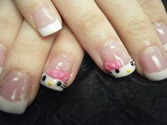 Hello Kitty French tips