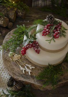 Tarta fondant de Navidad | http://saboresymomentos.es