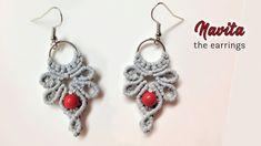 How to macrame – The Navita earrings – macrame jewelry set Makramee – Die Navita-Ohrringe – Makramee-Schmuckset Macrame Earrings Tutorial, Macrame Bracelet Tutorial, Earring Tutorial, Crochet Earrings, Macrame Jewelry, Macrame Bracelets, Macrame Knots, Loom Bracelets, Friendship Bracelets