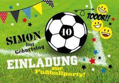 Fußballparty | Einladung für alle, die ein Fußballfest geplant haben!