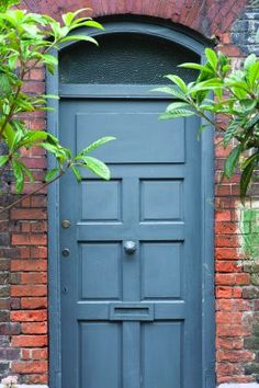 Hague Blue Front Door from Farrow & Ball
