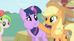 Here, try this. (My Little Pony: Friendship is Magic Season 1, Episode #1: Friendship is Magic Part 1)