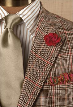 Paul Stuart - Custom ~without the flower, or hanky ! Sharp Dressed Man, Well Dressed Men, Mens Attire, Mens Suits, Gentleman Style, Gentleman Fashion, Gq Style, Blazers, Fine Men