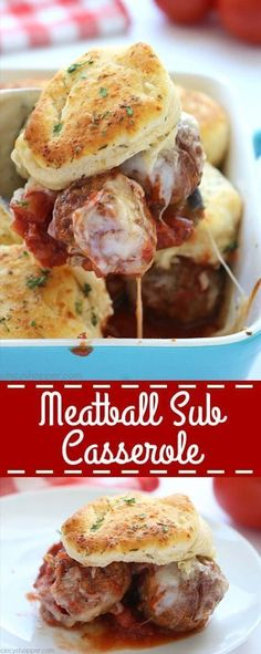 Meatball Sub Casserole – Reuse Grow Enjoy Meatball Sub Casserole Make this super easy Meatball Sub Casserole for dinner tonight, your family will love it! Use homemade or store bought meatballs, sauce, and biscuits to create this simple dinner dish. Kraft Foods, Kraft Recipes, Beef Recipes, Healthy Recipes, Italian Recipes, Recipies, Cheap Recipes, Italian Foods, Meatball Recipes