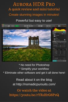 A new video tutorial on the blog, outlining the powerful new editing program Aurora HDR Pro.