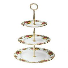 Royal Albert Old Country Roses Cake Stand  by PrettyVintageHome, on Etsy.
