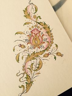 Deneme Baroque Decor, Persian Pattern, Turkish Art, Islamic Art Calligraphy, Pop Culture Halloween Costume, Gold Embroidery, Tile Art, Textile Prints, Botanical Illustration