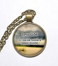 BEAUTIFUL WORDS Necklace, Brontide, Art Pendant Necklace, Inspirational Necklace, Glass Pendant, Handmade Jewelry
