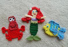 crochet d lane: The Little Mermaid and Her Friends
