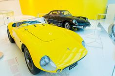 Ferraris are mostly identified with red, but here is a yellow one. -by @AnitasFeast