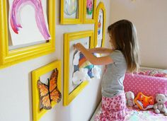 13 Playroom Decor Ideas the Whole Family Can Enjoy - like #4 picture frames