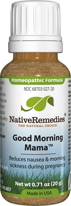 Good Morning Mama™ - Homeopathic remedy to temporarily relieve symptoms of morning sickness associated with pregnancy, such as nausea