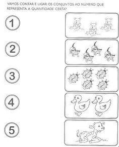atividades matemática pré escola para imprimir - Pesquisa Google
