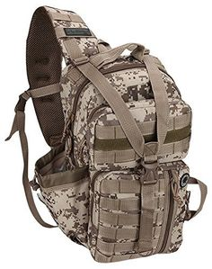 Nexpak Tactical Messenger Sling Bag Outdoor Camping Hiking Travel Backpack TL318DMTAN Digital Camo Tan -- Check out the image by visiting the link.