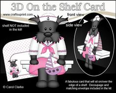 3D On the Shelf Card Kit Old Sea Dog Scottie Dog Maisie on Craftsuprint - View Now!