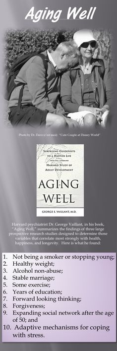 #Aging Well #Vaillant #Harvard