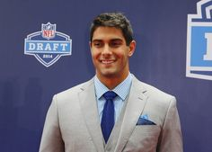 The New England Patriots drafted Jimmy Garappolo with the 62nd overall pick in the 2014 NFL Draft. | Meet Jimmy Garoppolo, Tom Brady's Competition