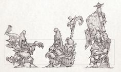 Goblins, Mikhail Savier on ArtStation at https://www.artstation.com/artwork/kZ2Xl