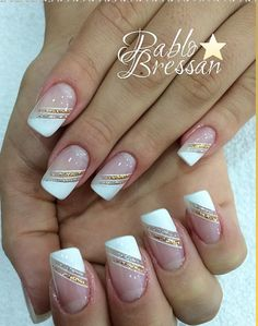 Nails Nails Art French Manicure Ongles Ideen Selecting A Hair Loss Treatment Article Body Classy Nails, Stylish Nails, Simple Nails, French Tip Nail Designs, Nail Polish Designs, French Nails, French Manicures, Tape Nail Art, Cute Acrylic Nails