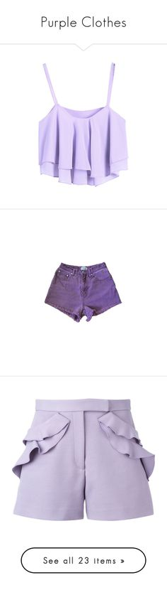"""""""Purple Clothes"""" by carlou863 on Polyvore featuring tops, shirts, tank tops, tanks, logo shirts, muscle tank, vintage shirts, logo top, purple tank et crop tops"""