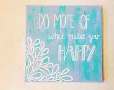Hi there and welcome to The Happy Prepster! So glad you stumbled upon us! This beautiful canvas is hand painted by myself in fine acrylic paint