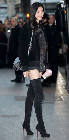 All the Victoria's Secret Models and Performers Out and About in Paris - Ming Xi from InStyle.com