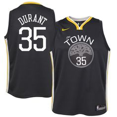 b9d3a9eb9238 Kevin Durant Golden State Warriors Nike Youth Swingman Jersey Black -  Statement Edition. Stephen Curry ...