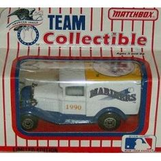 Seattle Mariners 1990 Matchbox/White Rose MLB Diecast Ford Model A Truck Baseball Collectible by MLB  $15.00 College Football Teams, Mlb Teams, Baseball Gear, Buster Posey, Matchbox Cars, Thing 1, Milwaukee Brewers, Seattle Mariners, Chicago White Sox