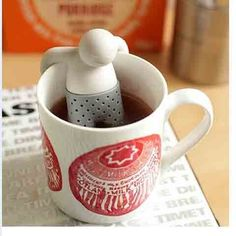 Who is sitting in that tea pot? It's Mr. Tea Infuser! Come grab him to your living room and chill for the day!