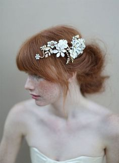 {style inspiration : tiaras made of pretty petals & gilded leaves} | Flickr - Photo Sharing!