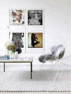 Living room chair options - Bertoia Diamond Chairs