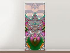 Tür #Tapete Fraktal Design