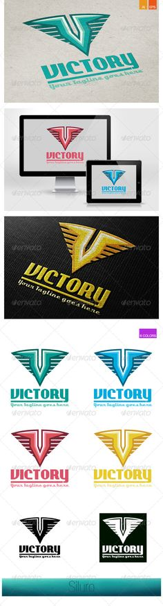 Victory Logo — Vector EPS #letter V #green • Available here → https://graphicriver.net/item/victory-logo/7673427?ref=pxcr