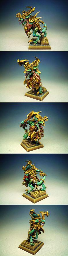 Lizardman Saurus Oldblood in Sun Armor - We7
