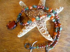 Red Jasper Necklace and Earring Set
