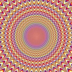 Hold your lunch.  It's like it's pulsating!  ........optical illusion