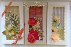 3 framed  flowers