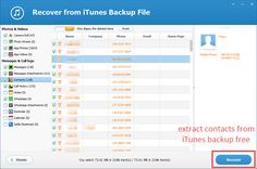 OK, you may know a few kinds of free method to get your lost contacts back. However, all of the free ways are depend on backup files. If your device cannot connect with your PC/Mac. What do you do to extract your contacts?  A totally free tool: Jihosoft iTunes Extractor will be the best bet.