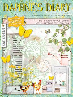 Daphne's Diary edition 02 2016 FR Spring Pictures To Color, Colorful Pictures, Oasis Foam, Daphnes Diary, Garden Shop, Diy Interior, Inspiration, Journals, Notebooks
