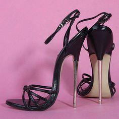 Fashion Women's stilettos with Sandals Sexy Steel heels High Heels Shoes Black 9 Sexy High Heels, Extreme High Heels, Frauen In High Heels, Beautiful High Heels, Hot Heels, High Heels Stilettos, Strappy Heels, High Heel Boots, Womens High Heels