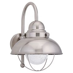 89571BLE-98,One Light Outdoor Wall Lantern,Brushed Stainless