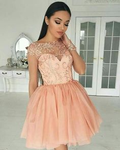 Hot Sale Popular Long Sleeves Homecoming Dresses Coral Homecoming Dresses,Short Homecoming Dress,Sweet 16 Dresses With Long Sleeves Coral Homecoming Dresses, Freshman Homecoming Dresses, Prom Dresses 2017, Dress Prom, Graduation Dresses, Dress Formal, Coral Dresses Short, Quinceanera Dresses Coral, Semi Formal Dresses For Teens
